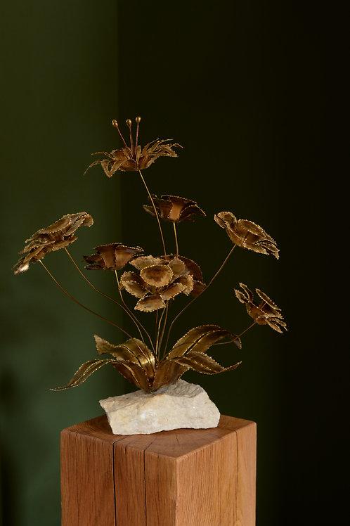 Brutalist flower sculpture