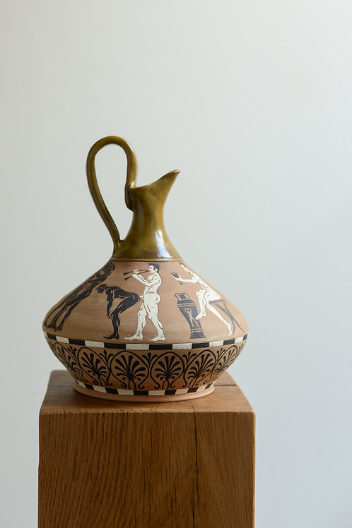 Large 'Bacchanalia' Wine Decanter by Sid Henderson