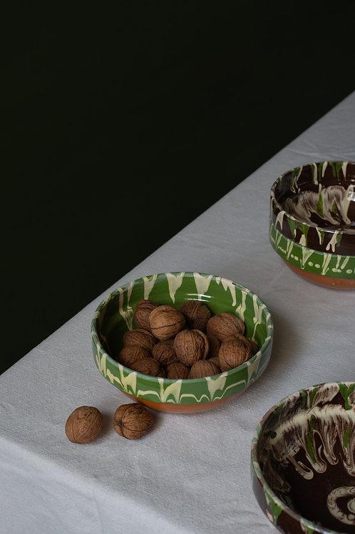 Set of four Romanian bowls