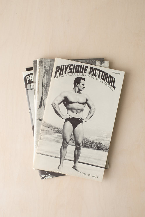 Vintage issues of Physique Pictorial