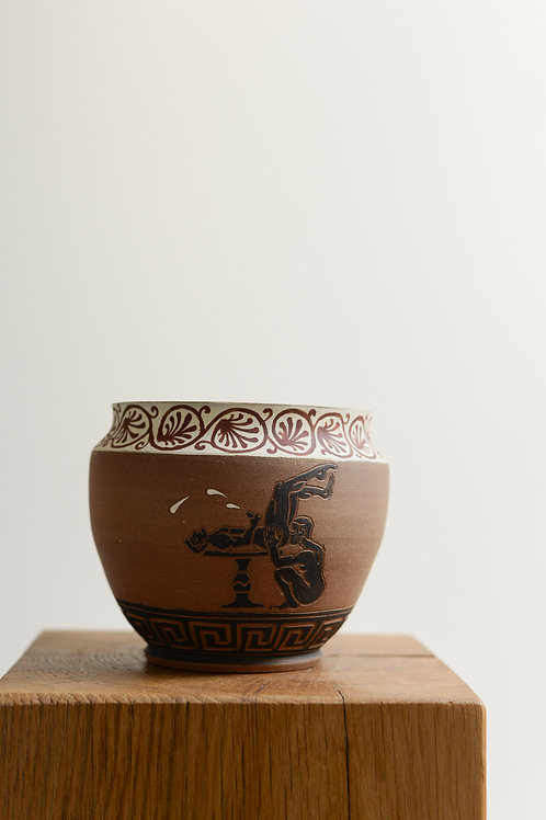 'Tabling the Issue' Plant Pot by Sid Henderson