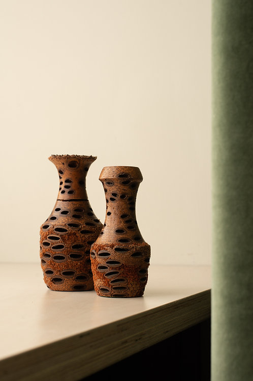 Banksia seed pod vases by Ken Walton