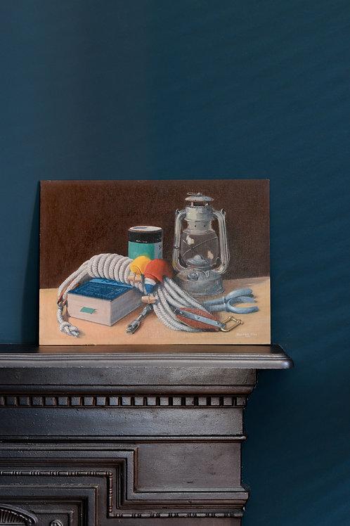 Oil still life by Stewart Hine