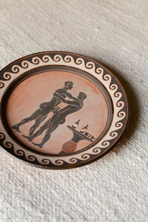 'It's Not Gay If Our Balls Don't Touch' Terracotta Plate by Sid Henderson