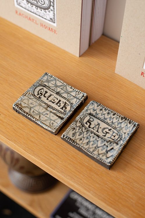 'Queer Rage' tile set by Rachael House
