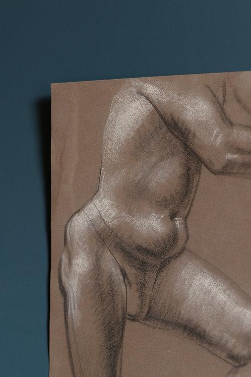 Charcoal drawing by David Weeks