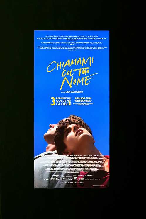 Call Me by Your Name cinema poster