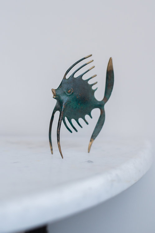 Small mid-century fish sculpture