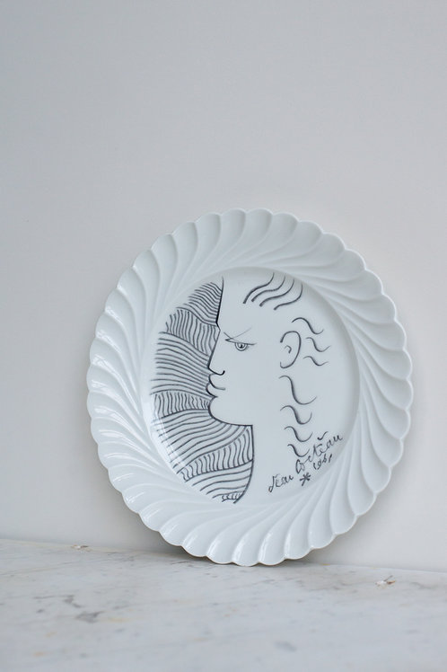Jean Cocteau plates by Haviland Limoges