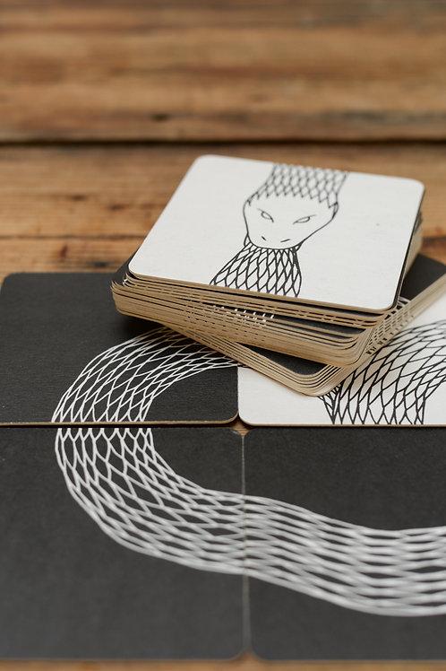 Ouroboros Coaster Set by Peter Ibruegger