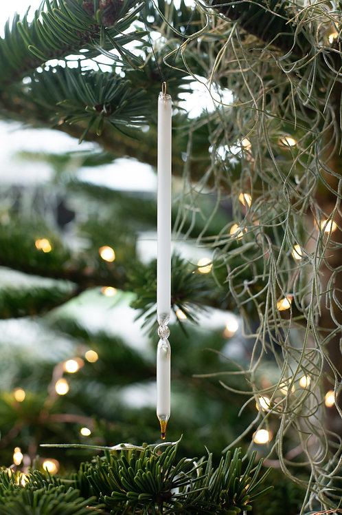 Vintage frosted glass ornaments