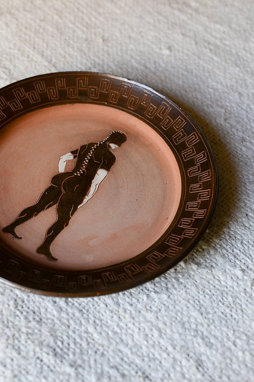 'Leather, Rinse, Repeat' Terracotta Plate by Sid Henderson