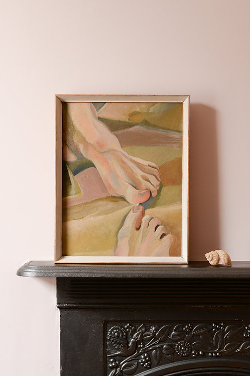 "Oil painting ""My Right Foot"" 1972"
