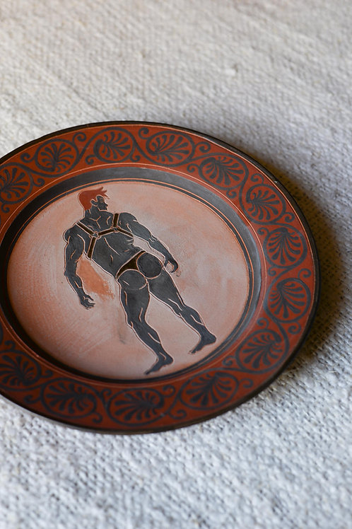 'Leather, Rinse, Repeat II' Terracotta Plate by Sid Henderson