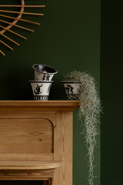 Porcelain orchid pots by Sid Henderson