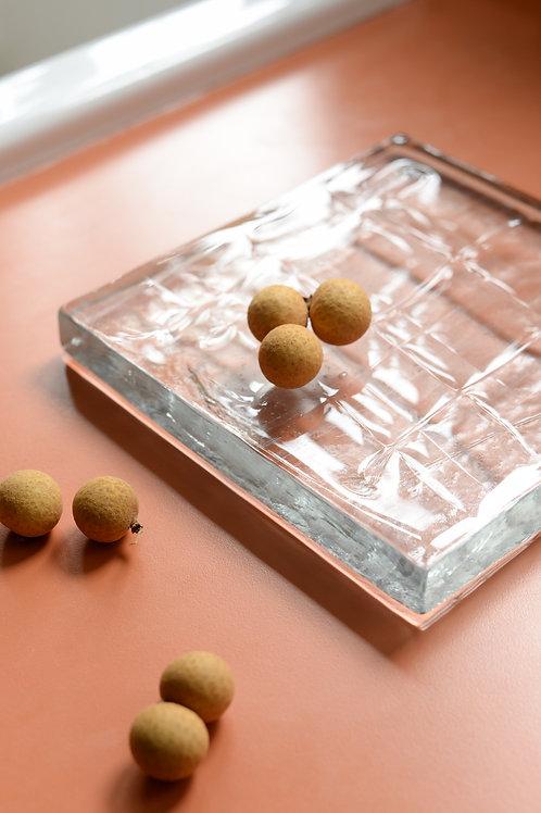 Square 'Arkitektur-Glas' by Christer Sjögren for Lindshammar