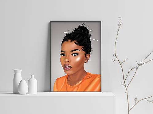 Melanin love (Canvas Print)