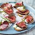 Rare Beef & Horseradish Crostini