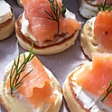 Salmon & Cream Cheese Bilini's