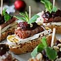 Prosciutto, Cranberry & Brie Crostini