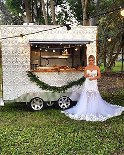 Wedding catering with our bride