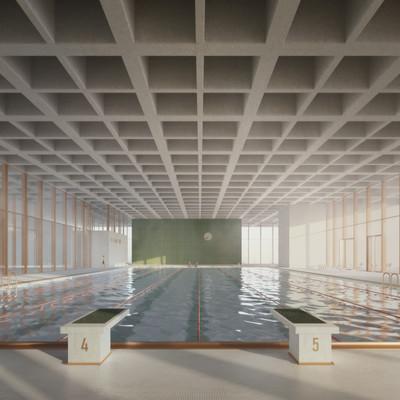 public swimming pool giesing | germany
