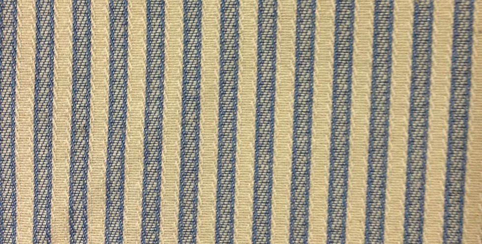 Blue and Cream Ticking Stripe