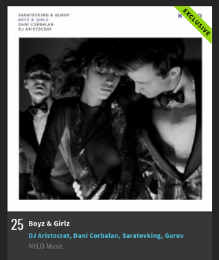'Boyz & Girlz' №25 on Beatport Indie Dance / NuDisco Top 100 Releases