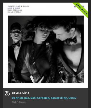 'Boyz & Girlz' №25 on Beatport Indie Dance / NuDisco Top 100 Releases