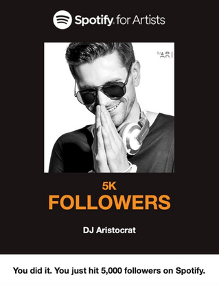 Spotify for artists (Over 5 000 Followers)