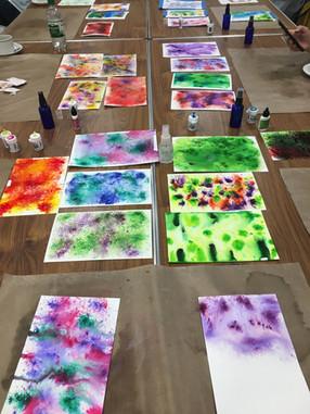 September - Colour Burst Ink Cards