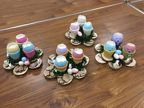 April - Painted Eggshell Candles