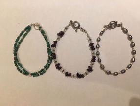 November - Sterling Silver & Semi Precious Beads Bracelet