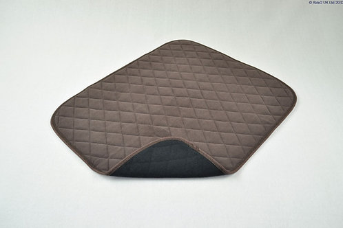 Vida Washable Chair Pad - 50 x 60cm - Brown