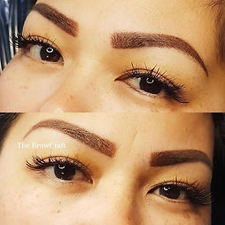Sexy bold brows during maintenance sessi