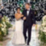 Bill Ferrell Co. launcher white tissue rose petals over The Bachelor's live TV wedding