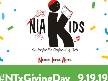 North Texas Giving Day - N.I.A. Kids support
