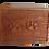 Urne en bois de cèdre rouge entièrement faite à la main, ornée de deux pattes sculptées à la main taille S-M-L-XL