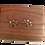 Urne en Bois de rose d'Inde (Sheesham) entièrement faite à la main, ornée de deux pattes en laiton Taille S-M-L-XL