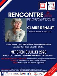 Rencontre francophone - Claire Renaut -