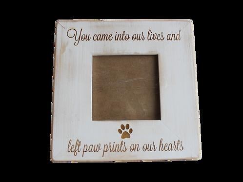 Mémorial cadre en bois écriture en anglais - tu es venus dans nos vies et tu as laissé tes empreintes dan nos cœurs