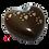 grande urne laiton brun patte de animal, chien chat lapin oiseau hamster cendres incinération