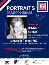 Portraits francophones - Jeanne Fremy .j