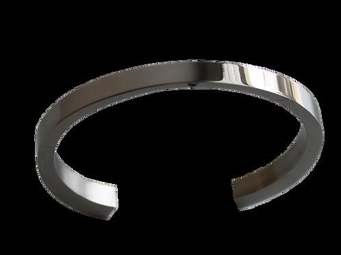 urne bracelet rigide acier inoxydable ouvert, élégant et simple