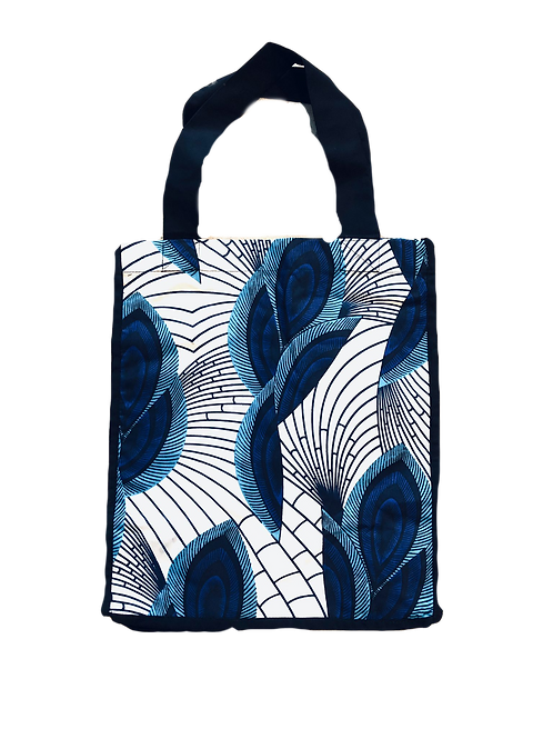 White Peacock Grocery Bag