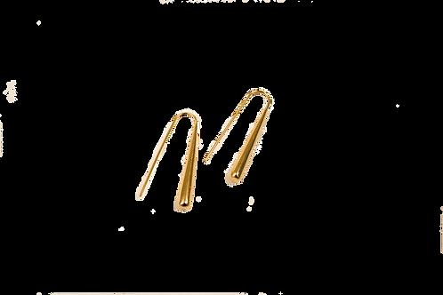 Brass Pole Earrings