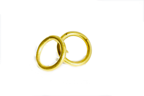 Brass Ring Studs