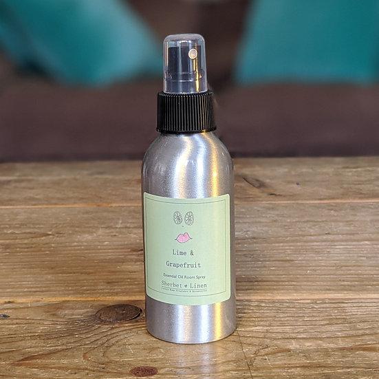 Lime & Grapefruit Luxury Room Spray. 100% Pure Essential