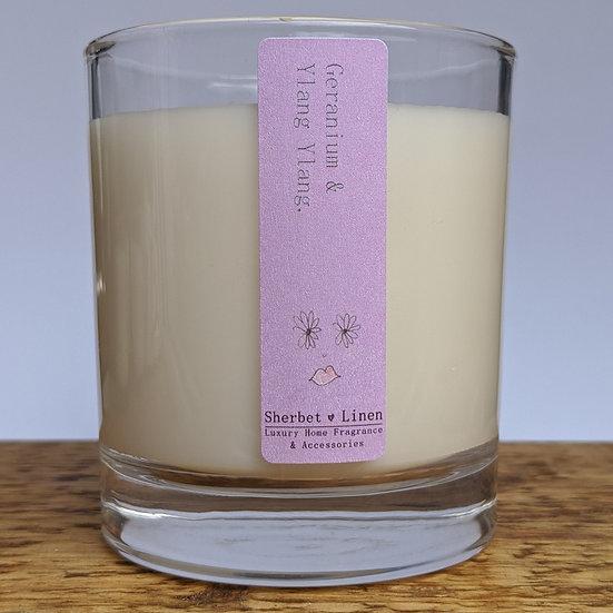 Geranium & Ylang Ylang Luxury Soy Wax Candle