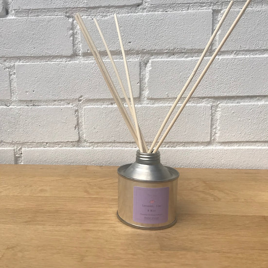 Lavender, Lime & Mint Luxury Reed Diffuser. Pure Essential Oils